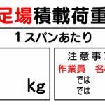 足場 積載荷重 表示