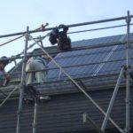 太陽光発電 足場
